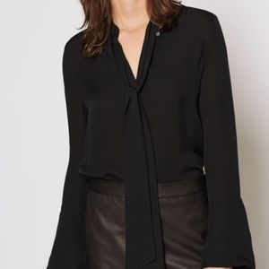 """""""Nadal"""" Bell Sleeved Silk Blouse By Joie"""